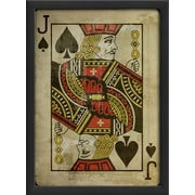 The Artwork Factory Jack of Spades Framed Graphic Art