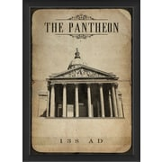 The Artwork Factory European Monuments The Pantheon Framed Graphic Art