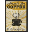 Blueprint Artwork Atomic Joe Coffee Framed Vintage Advertisement
