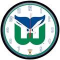 Wincraft NHL 12.75'' Wall Clock; Hartford Whalers Vintage