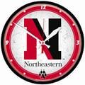 Wincraft Collegiate 12.75'' NCAA Wall Clock; Northeastern University