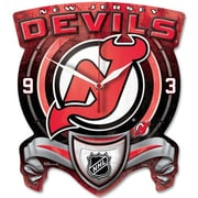 Wincraft NHL High Def Plaque Wall Clock; New Jersey Devils
