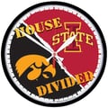 Wincraft Collegiate 12.75'' NCAA House Divided Wall Clock; Iowa v. Iowa State