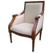 Gift Mark Elegant Square Children's Arm Chair; Cherry and Beige