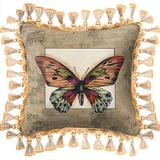Fine Art Tapestries Butterfly Dragonfly II Throw Pillow