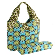 Amy Butler Tulip Diaper Bag; Buttercups Turquoise