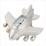 Chass Mini Jumbo Jet Clock in Silver