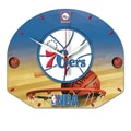 Wincraft NBA Plaque Wall Clock; Philadelphia 76ers