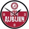 Wincraft Collegiate 12.75'' NCAA Wall Clock; Alabama Beat Auburn Rivalry