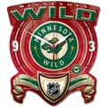 Wincraft NHL Plaque Wall Clock; Minnesota Wild