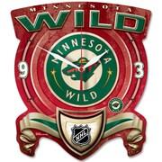 Wincraft NHL Plaque Wall Clock; Minnesota Wild