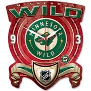 Wincraft NHL High Def Plaque Wall Clock; Minnesota Wild