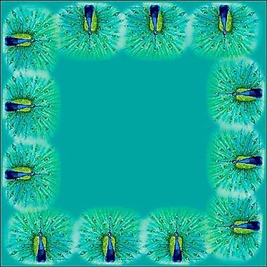 Betsy Drake Interiors Peacock Square Tablecloth