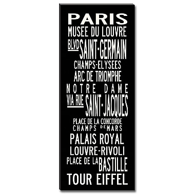 Uptown Artworks Paris by Uptown Artworks Framed Textual Art on Wrapped Canvas; 24x60