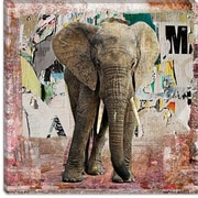 iCanvas ''Elephant Torn'' Poster by Luz Graphics Graphic Art on Canvas; 18'' H x 18'' W x 1.5'' D