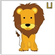 iCanvas Kids Art L is for Lion Graphic Canvas Wall Art; 12'' H x 12'' W x 0.75'' D