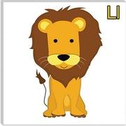 iCanvas Kids Art L is for Lion Graphic Canvas Wall Art; 26'' H x 26'' W x 1.5'' D