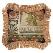 Fine Art Tapestries Arts & Crafts IV Cotton Throw Pillow