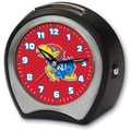 Cottage Garden Collegiate Alarm Table Clock; University of Kansas