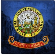 iCanvas Idaho Flag, City of Rock w/ Grunge Graphic Art on Canvas; 18'' H x 18'' W x 0.75'' D