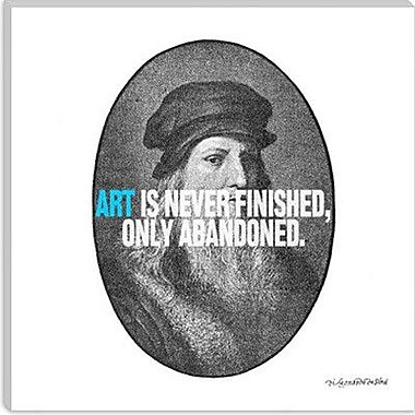 iCanvas Icons, Heroes and Legends Leonardo da Vinci Quote Painting Print on Canvas