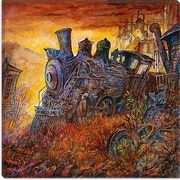 iCanvas Decorative ''Rusty Train'' by Bill Bell Painting Print on Canvas; 37'' H x 37'' W x 0.75'' D
