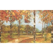 North American Art Autumn Path by Carmen Dolce Painting Print on Wrapped Canvas