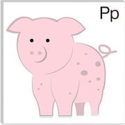 iCanvas Kids Art P is for Pig Painting Print Canvas Wall Art; 12'' H x 12'' W x 1.5'' D