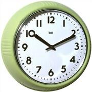 Bai Design 8.3'' Too Cool for School Retro Modern Wall Clock; Chartreuse