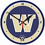 Wincraft Collegiate 12.75'' NCAA Wall Clock; Washington
