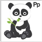 iCanvas Kids Art P is for Panda Painting Print Canvas Wall Art; 18'' H x 18'' W x 1.5'' D