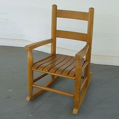 Dixie Seating Child's Rocking Chair; Medium Oak