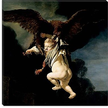 iCanvas ''The Abduction of Ganymede'' by Rembrandt Painting Print on Wrapped Canvas