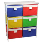 Household Essentials Storage Stand with 6 Bins and 2 Removable Shelves