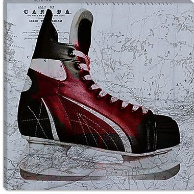 iCanvas Canada Hockey Ice Skates #3 Graphic Art on Canvas; 12'' H x 12'' W x 1.5'' D