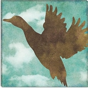 iCanvas Color Bakery ''Winter Lodge (Bird)'' Graphic Art on Canvas; 12'' H x 12'' W x 1.5'' D