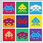 iCanvas Space Invaders - Pop Art Multicolor Canvas
