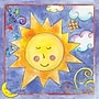 Art 4 Kids Twinkle Sun Canvas Art; Creative