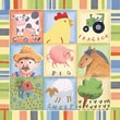 Art 4 Kids Barnyard Buddies I Canvas Art; Contemporary Mount with Beveled Edge