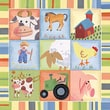 Art 4 Kids Barnyard Buddies II Canvas Art; Contemporary Mount with Beveled Edge