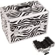 Just Case Zebra Pattern Professional Cosmetic Makeup Train Case