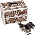 Just Case Leopard Pattern Professional Cosmetic Makeup Train Case