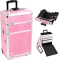 Just Case Trolley Makeup Case; Pink