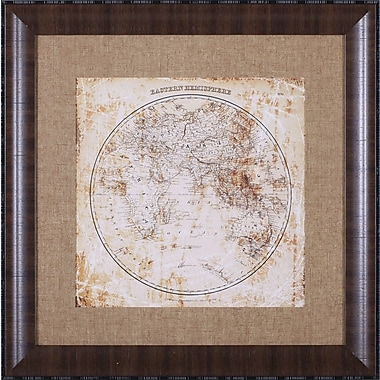 Art Effects Antique Map Eastern Hemisphere by Mauro Cardoza Framed Graphic Art