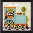 Art Effects Owl Train Conductor Wall Art