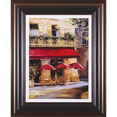 Art Effects Three Red Umbrellas by Keith Wicks Framed Painting Print