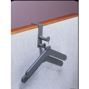 Magnuson Group Over Panel Coat Hook w/ 2 Hangers; Charcoal Gray