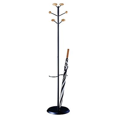 Magnuson Group MET Coat Rack w/ Umbrella Stand; Black