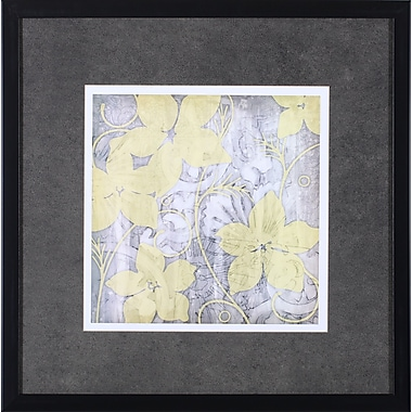 Art Effects Yellow and Gray I by Jennifer Goldberger Framed Graphic Art