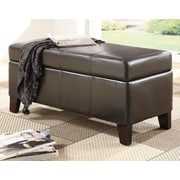 Modus Urban Seating Leatherette Bedroom Storage Ottoman; Chocolate